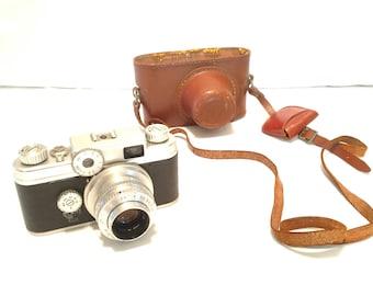 1950s vintage ARGUS C-4 35mm Rangefinder camera w/ 50mm f/2.8 Coated C