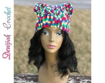 Crochet Cat Ears Hat