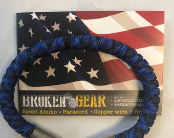 Broken Gear Bullet Bracelet - Blue Steel