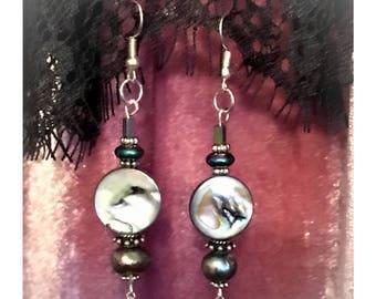 Handmade mother of pearl earrings