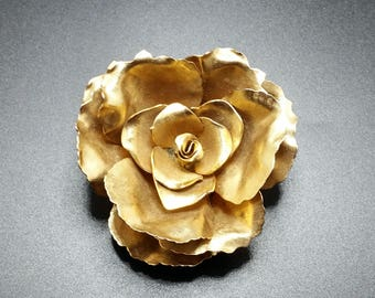 Rose brooch, mid century modern, MCM, Mad Men style jewelry, MCM jewelry, MCM earrings