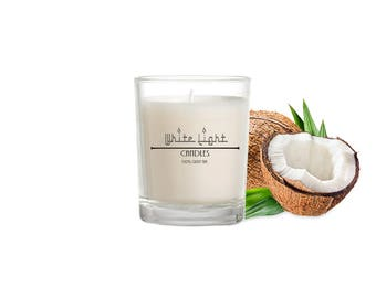 Coconut Soy wax Candle - vegan Candles -  cruelty free home fragrance - Mothersday Gift for vegans - Valentines