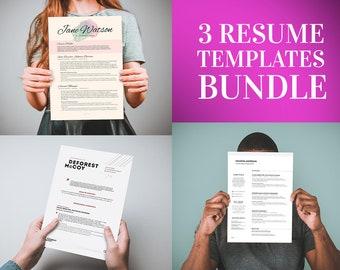 2 FREE Resume Templates Bundle - Buy 1 get 2 FREE Resume Templates