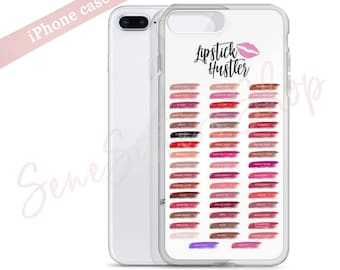 Lipstick Hustler - iPhone Cover Lipsense 50 Lip Color Swatches Phone Case