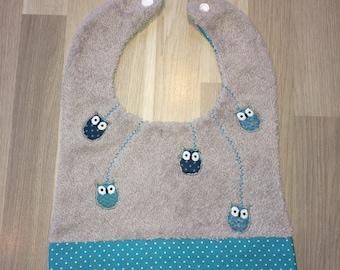 "Bib ""Owls"" handmade"