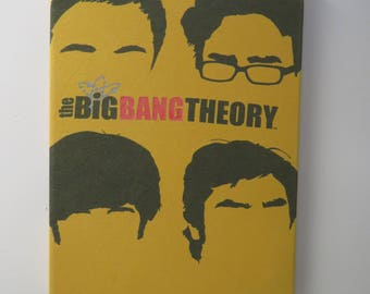 The Big Bang Theory upcycled T shirt on canvas