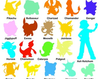 Pokemon svg - Pokemon Silhouette svg - Pokemon clipart - Pokemon digital clipart for Design or more, files download svg, png, jpg, eps