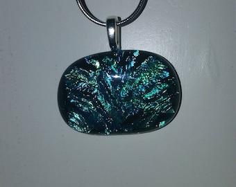 Zume Glass - Dichroic Handmade Glass Fused Pendant
