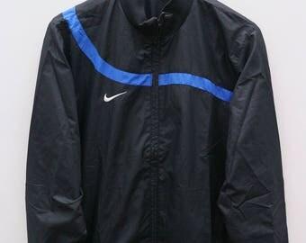NIKE Sportswear Small Logo Black Vintage Windbreaker Size M