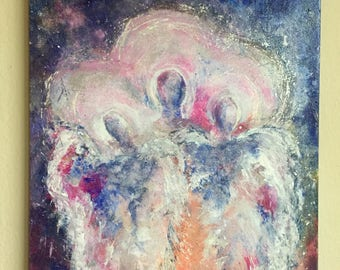 "Art, Original Painting, Acrylic Painting, Titled Angels Among Us #4, 8"" x 10"""