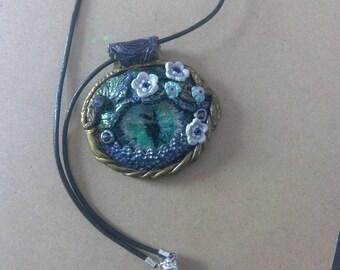 Flower Dragon Eye Necklace