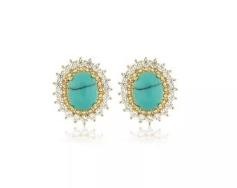 Oval Turquesa Earrings
