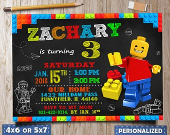 Lego Birthday, Lego Party, Lego invitation, Lego invitations Birthday, Lego invitation girl, Lego invitation download, Lego printable, Lego