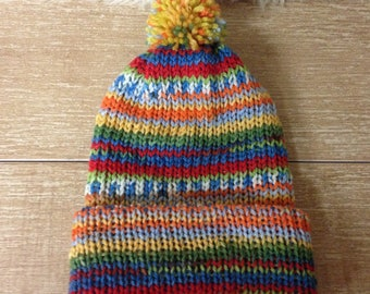 Merino pure wool Girls hat.