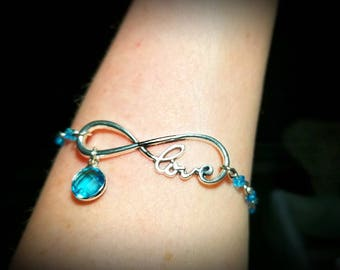 Infinite Love Birthstone Bracelet