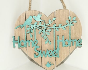 Home Sweet Home Wall Plaque (Blue).