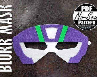 Blurr Rescue Bot No-Sew Mask Pattern