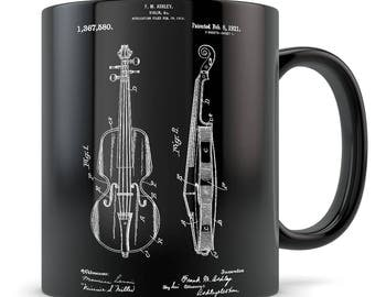 Violin gift, violin patent, violin mug, violin gift for women, violin player, violin gift idea, violin themed gifts, violin teacher gifts