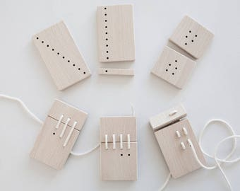 Counting wooden toy. Count on! Puzzle. Numbers. Measures. Sequences. Progressions. Educational toy. Montessori toy. Waldorf toy. Lacing toy.