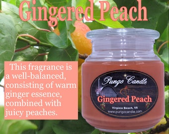 Gingered Peach Scented Jar Candle (16 oz.)!