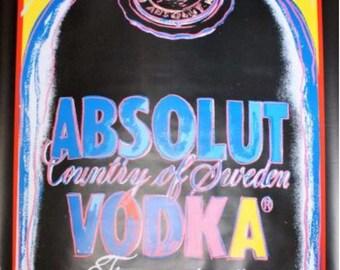 Original Vintage Poster Andy Warhol Absolute Vodka