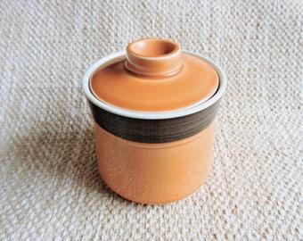Vintage Mikasa Terra Stone Sugar Bowl | Japan Pottery | Retro Decor | Vintage Glazed Ceramic