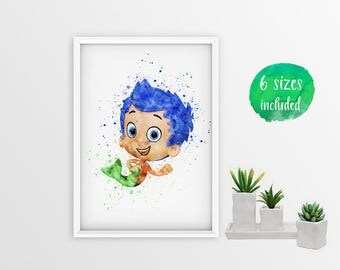 Bubble guppies art | Etsy