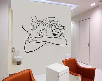 Wall Decal Window Sticker Beauty Salon Spa decal massage decal spa salon decals t86