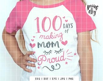 100 Days SVG, SVG 100 Days, School svg, svg T-shirt, mom svg, teacher svg - Instant Download - K048