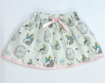 Peter rabbit skirt and hair bow set