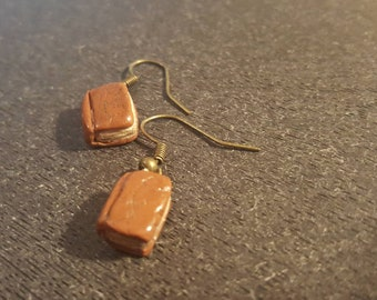 Old book earrings