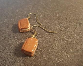 Old book earrings