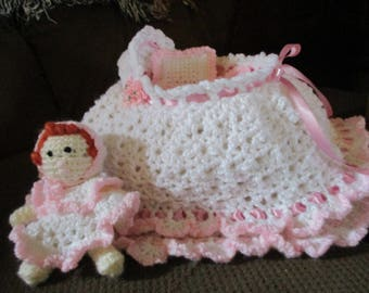 Baby Doll With Cradle.