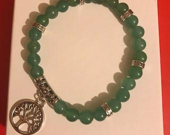 Jade Tree of Life Bracelet