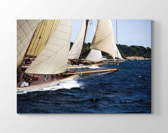 Sailboat Printing On Canvas, Wall Art, Canvas Prints, Room Deco, Beautiful View, Wonder, Sea