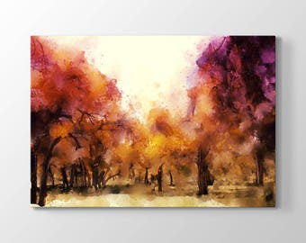 Fall Tree Printing On Canvas, Wall Art, Canvas Prints, Room Deco, Beautiful View, Wonder, Abstract Painting