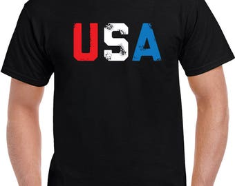 Usa Olympic Team Distressed  T Shirt