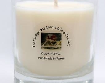 Natural Soy Wax Luxury Candle Oudh Royal