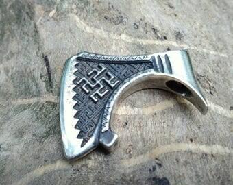 Axe of perun silver axe pendant Perun war axe slavic silver axe necklace slavic silver jewelry sterling silver axe perun
