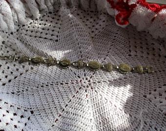 Vintage Native American hand stamped sterling silver Bracelet,16.9 grams.