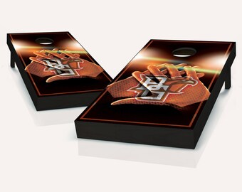 Bowling Green Falcons Gloves Cornhole Set with Bags
