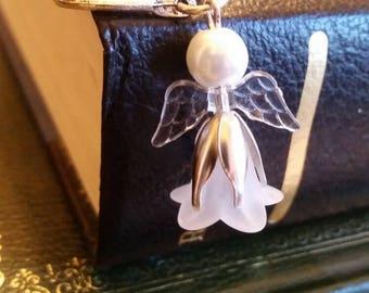 Guardian angel on Tbetan silver bookmark