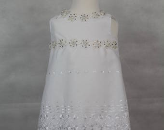 White Broderie Anglaise dress