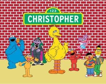 Sesame Street Backdrop