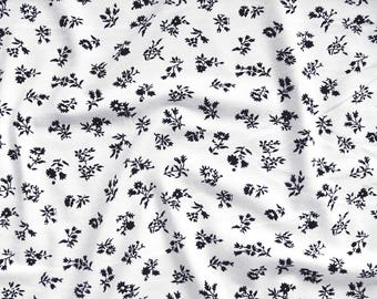 Viscose-Jersey P091403SW in white with floral print black