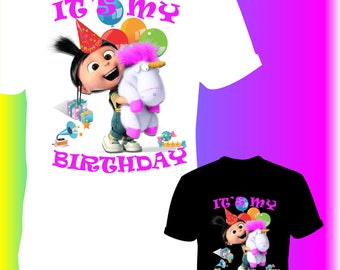 Minions Iron On Transfer / Minions Birthday Shirt Transfer DIY / For Any Color Shirt / 12 Hours Turnaround Time