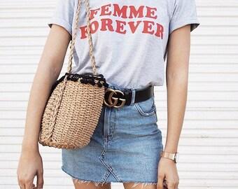 Femme Forever T-shirt Cool Feminist Vintage Tee