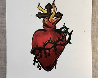 Sacred Heart of Jesus Print Art