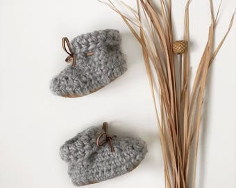 Mystic Gray Fold Over Booties