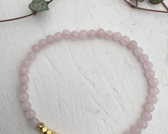Bracelet Rose Quartz 4mm